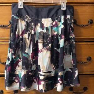 Beautiful Multi Colored Silky Skirt